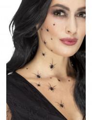 Tatuajes temporales arañas mujer Halloween