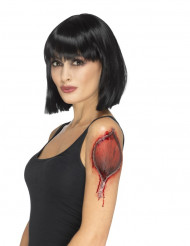 Tatuaje temporal cremallera mujer Halloween