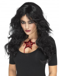 Tatuaje temporal estrella mujer Halloween