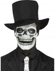Prótesis de látex esqueleto adulto Halloween