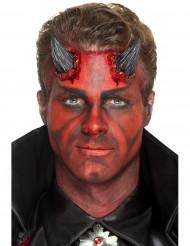 Prótesis látex cuernos de diablo negro adulto Halloween