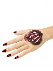 Prótesis látex huesos de la mano adulto Halloween