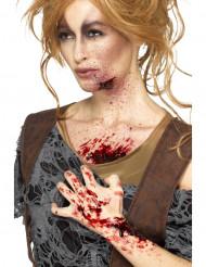 Costra de sangre roja mujer Halloween
