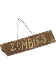 Cartel Zombie para colgar 40x10 cm Halloween