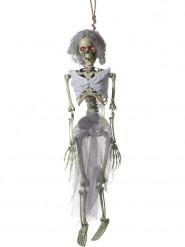 Decoración para colgar novia esqueleto 90 cm Halloween.