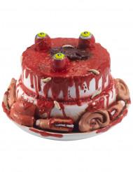 Decoración pastel con partes de la cara Halloween