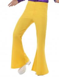 Pantalón disco amarillo hombre