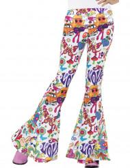 Pantalón hippie años 60 mujer