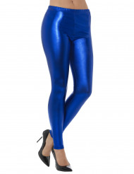 Legging metalizado azul adulto