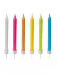 10 Velas de colores