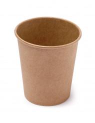 20 Vasos de cartón kraft 200 ml