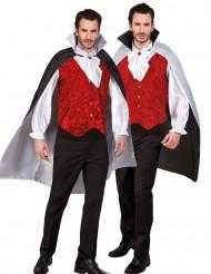 Capa reversible negra y blanca adulto Halloween