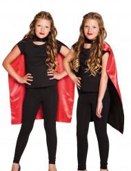 Capa negra y roja niño Halloween