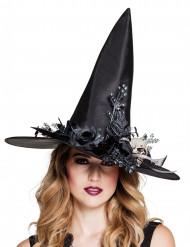 Sombrero bruja calavera mujer Halloween