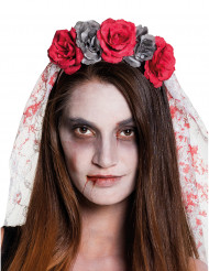 Cofia novia mujer Día de los muertos