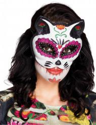 Antifaz colorido Dia de los muertos mujer