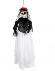 Decoración para colgar novia 90 cm Día de los muertos