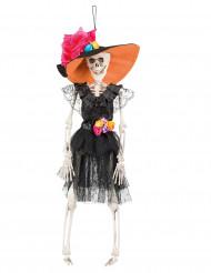 Decoración para colgar novia mexicana 40 cm Día de los muertos
