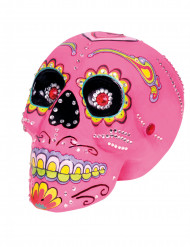 Decoración calavera rosa 20 x 14 cm Día de los muertos