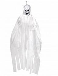Decoración para colgar esqueleto blanco 150 cm Halloween