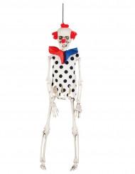 Decoración para colgar esqueleto payaso 40 cm Halloween