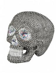Decoración esqueleto con strass 19 x 15 cn Halloween