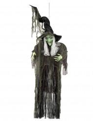 Decoración para colgar bruja 190 cm Halloween