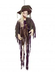 Decoración bruja animada y sonora 170 cm Halloween