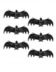 6 Decoraciones murciélago Halloween 12 cm
