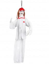 Decoración para colgar enfermera blanco Halloween 90 cm