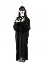 Decoración para colgar niña de horror 90 cm Halloween