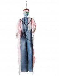 Decoración para colgar luminosa cirujano ensangrentado 190 cm Halloween