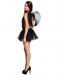 Tutú negro con alas mujer