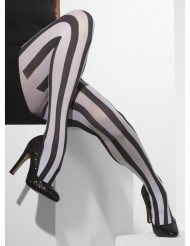 Pantys rayas negras y blancas mimo mujer