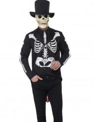 Disfraz de esqueleto chic hombre Día de los muertos