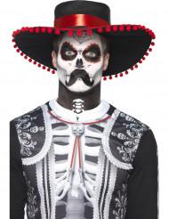 Kit de maquillaje esqueleto mexicano Dia de los muertos adulto