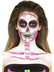 Maquillaje látex calavera fosforescente mujer Halloween
