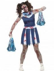 Disfraz pompón animadora zombie adolescente Halloween