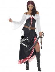 Disfraz miss sexy calavera pirata mujer