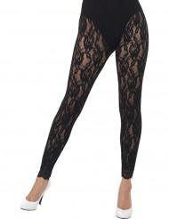 Legging puntilla negra mujer
