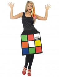 Disfraz vestido Cubo de Rubik™ mujer