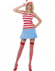 Disfraz ¿Dónde está Wally?™ sexy mujer