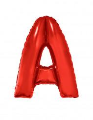 Globo aluminio gigante letra A rojo 102 cm