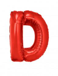 Globo de aluminio gigante letra D rojo 102 cm