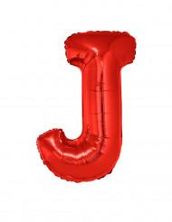 Globo aluminio gigante letra J rojo 102 cm