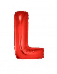 Globo aluminio gigante letra L rojo 102 cm