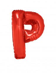 Globo aluminio gigante letra P rojo 102 cm