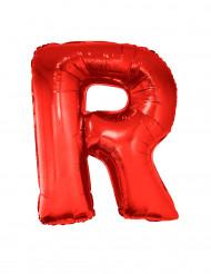 Globo aluminio gigante letra R rojo 102 cm