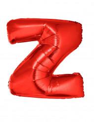 Globo aluminio gigante letra Z rojo 102 cm