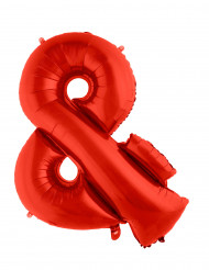 Globo aluminio gigante símbolo & rojo 80 cm